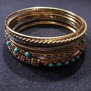 Jewelry - Turquoise bangle bracelets